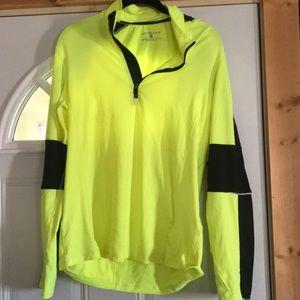 Yellow/Green running quarter zip